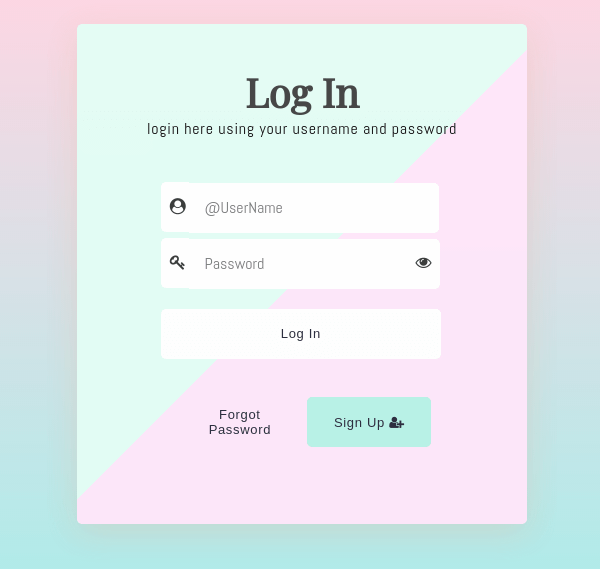 Log in form css