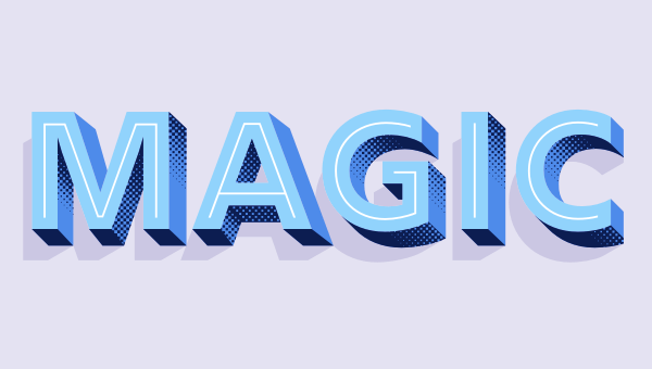 Layered fonts in css using rig shaded
